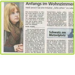 """Beispiel in der Presse: Schwäbisches Tagblatt veröffentlicht """"Stifte stiften""""-Artikel"""