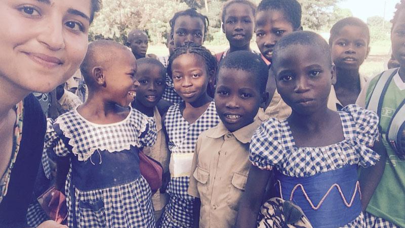 Schule und Kinder in Afrika Côte d'Ivoire, Elfenbeinküste