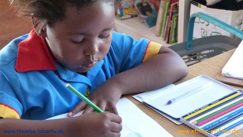 Stifte füt die Schule in Kapstadt, Südafrika