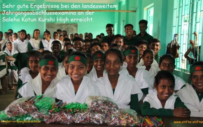 Gute Noten an der Saleha Katun Kurshi High School