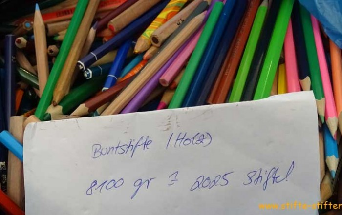 Sammelaktion Stifte für Kinder in Afrika