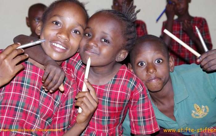Stifte für Straßenkinder in Kenia
