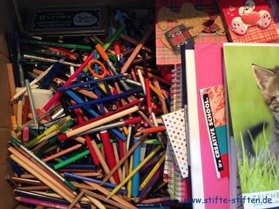 Mit Begeisterung haben die Schüler Stifte gesammelt