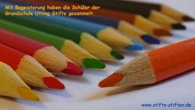 Buntstifte der Grundschule Utting gesammeln