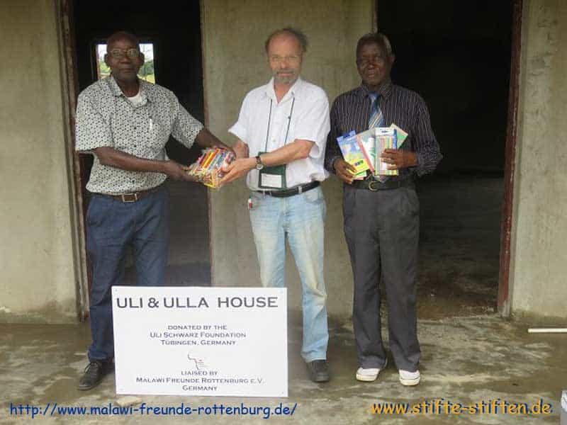 Stifte als Grundstock für das Ulla Ulla House