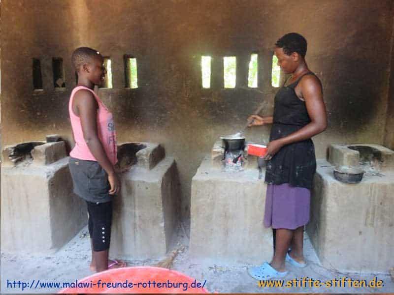 Kochmöglichkeit in Malawi für Mädchen