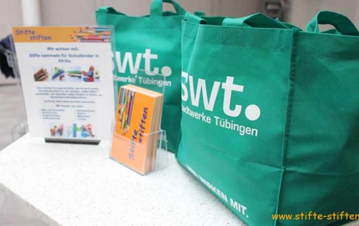 Stifte-Spende der Stadtwerke Tübingen