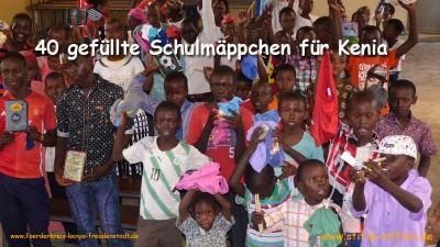 Kinder in Kenia erhalten Mäppchen und Stifte von Stifte stiften