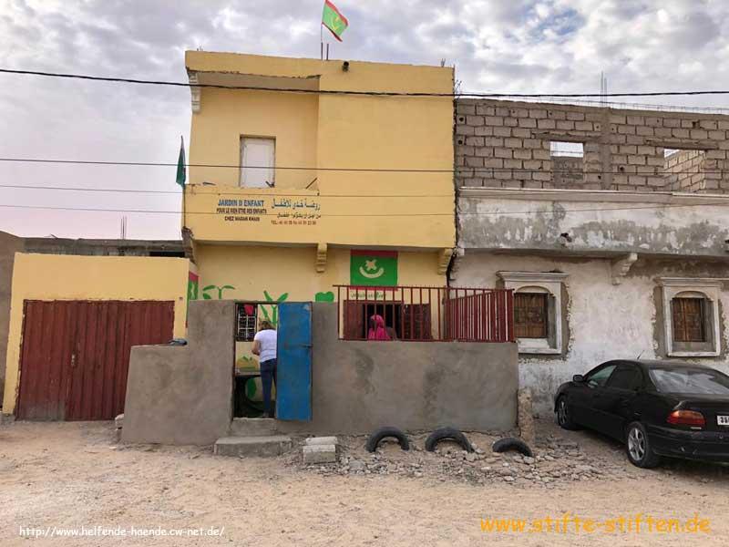 Gebäude der Kindergartenklasse in Mauretanien