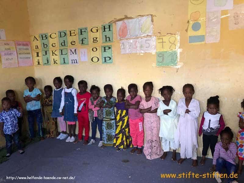 Kinder der Kindergartenklasse in Mauretanien