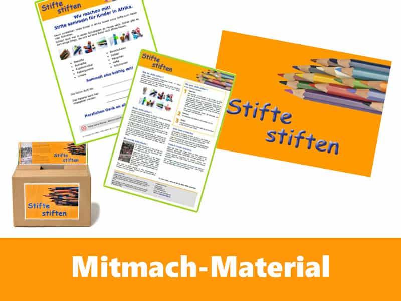 Stifte stiften Euer Mitmach-Material zum Sammeln