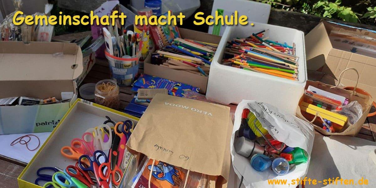 Stifte stiften- Gemeinschaft macht Schule
