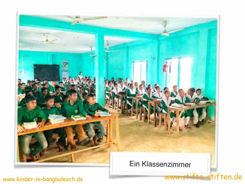 Ein Klassenzimmer in Bangladesch